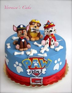 Paw patrol – Cake by - birthday Cake Ideen Bolo Do Paw Patrol, Torta Paw Patrol, Paw Patrol Cupcakes, Funny Wedding Cake Toppers, Vintage Cake Toppers, Paw Patrol Birthday Cake, Paw Patrol Party, Cake Disney, Snowflake Wedding Cake