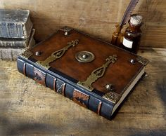 Brown Leather Journal with Brass Fittings One of a by TeoStudio, $850.00