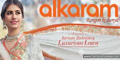 Alkaram Luxurious Spring Summer Lawn Collection 2016 in stores now. Check here complete designs with prices.