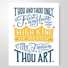 """""""High King Of Heaven"""" art print – She Reads Truth Bible Quotes, Bible Verses, Words Of Wisdom Love, Heaven Art, Scripture Art, Jesus Saves, Typography Inspiration, Cool Words, Favorite Quotes"""