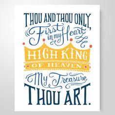 "She Reads Truth Hymn Study Print-  ""High King Of Heaven""  8x10 $12"