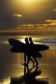"""surfing-the-salt-life: """" Surfers at Belhaven Bay, near Dunbar, Scotland.Photo Credit: X """" Surf Style, Big Waves, Mellow Yellow, Beautiful Sunset, Cool Photos, Scenery, Wanderlust, Around The Worlds, Pictures"""