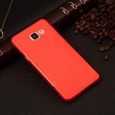 """S Line Silicone Rubber Soft Plastic TPU Cover For Samsung Galaxy A3(2016) SM-A310 A310 A3100 A310F 4.7"""" Phone Protective Cases"""