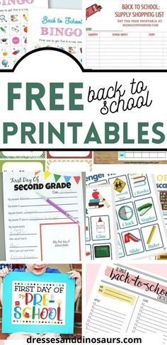 As a parent, I love to find anything to help get the kids ready for back to school.  These free back to school printables are sure to make the first day of school a breeze! #freeprintables #backtoschool #parenting #motherhood #kids