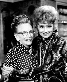 This is Lucy and her Mom....her real Mom....she was almost always in the audience when Lucy did her shows.