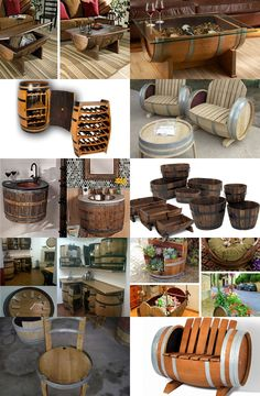 23 Clever DIY Christmas Decoration Ideas By Crafty Panda Easy Craft Projects, Wood Projects, Tonneau Bar, Unique Furniture, Diy Furniture, Wine Barrel Crafts, Barrel Bar, Barrel Table, Barris