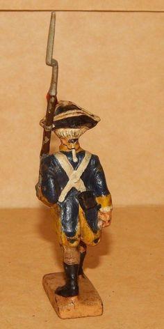 Uralt Lineol Soldat Sehr selten Lineol Washington Dreispitz Unabhängigkeitskrieg | eBay