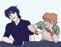 """sdelarts:  """"Keith and Pidge being bros. I miss them, can't wait for season 3   """""""