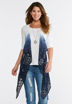 ede15f8d2af7ad Cato Fashions Plus Size Ombre Crochet Vest #CatoFashions Cato Fashion Plus  Size, Your Style