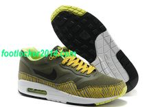 pretty nice 3995d 3d669 Mens Nike Air Max 1 Premium Tape Running Shoes Newsprint Black Gold Summit  White For Sale Online