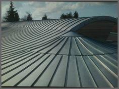 Couverture toiture zinc, joint debout, Côte d'Or, Bourgogne, Côte d'Or, Bourgogne, Dijon