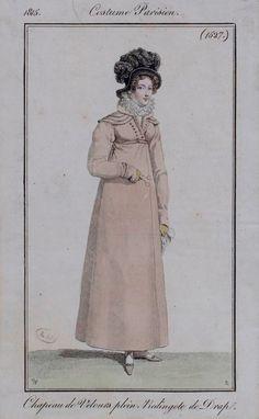 Journal des dames et des modes / Costume Parisien: 10 Decembre, 1815 (b)