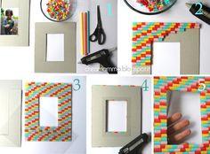 Diario di una Creamamma: Portafoto fai da te decorato con le cannucce