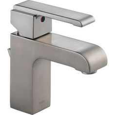 <strong>Delta</strong> Arzo Series Single Hole Bathroom Faucet with Single Handle