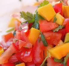 Mint, Tomato and Mango Salsa
