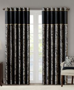 Faux Silk Curtains, Tab Curtains, Long Curtains, Modern Curtains, Valance, Living Room Decor Curtains, Bedroom Decor, Rooms Ideas, Rideaux Design