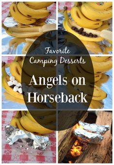 Find out why Angels on Horseback are our family's favorite camping dessert. Campfire Desserts, Campfire Food, Delicious Deserts, Yummy Food, Yummy Recipes, Angels On Horseback, Gluten Free Camping, Camping Meals, Camping Recipes