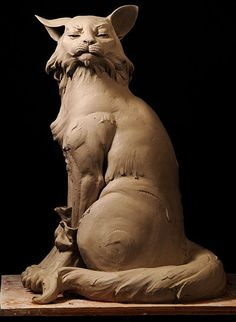 """""""The King I Am"""" earthenware clay sculpture by Philippe Faraut, 2009"""