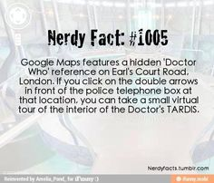 """I searched on Google Maps for """"police box, Earl's Court Road, London"""". It was so cool ! ! !"""