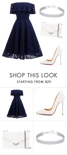 """Untitled #309"" by jovanaaxx on Polyvore featuring Christian Louboutin, Jimmy Choo and Swarovski"