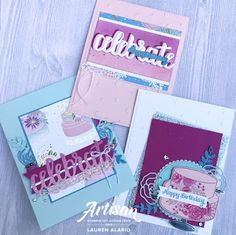 Crafty Little Peach: Cake Soirée Birthday Card Set Little Peach, Happy Wishes, Stampin Up Cards, I Card, Birthday Cards, Birthdays, Artisan, Paper Crafts, Crafty