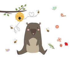 Free SVG cut files - Honey Bear