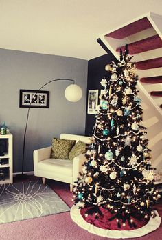 Our Silver blue Christmas Tree