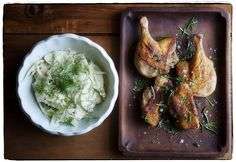 Canal House Cooks Lunch - pan-fried duck and fennel slaw