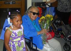 The K5 and 5th grade students at Gwen T. Jackson School were surprised by Ms. Gwen T. Jackson at the school's completion ceremonies this month. Ms. Jackson remained after both ceremonies to enjoy great conversation and cupcakes with the students! The students loved the opportunity to meet their school's namesake!
