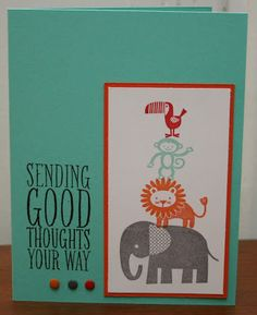 Klompen Stampers (Stampin' Up! Demonstrator Jackie Bolhuis): Zoo Babies: Day 5