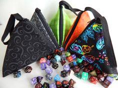 CUSTOM Dice bag Geek gear Gamer gear Dungeons and by AnaneADesigns, $10.00