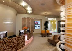 Alternate view of the reception area at the Cisco LifeConnections Health Center