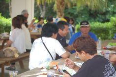 金武町でのビーチパーティ風景  2012/06/16にFacebook沖縄ユーザーグループのビーチパーティが金武町で開催されました。その風景です。  https://www.facebook.com/Kin.okinawa