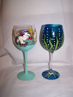 Hand painted glassware that is dishwasher safe!