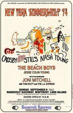 CSNY Crosby Stills Nash Young  concert POSTER  1974  joni mitchell neil young