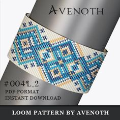 PLEASE NOTE: In purchasing this item, you are buying only a PATTERN in PDF format. This pattern is also intended for users that have experience with loom, because the pattern does NOT include instructions on how to do this stitch. It will be available for instant download as soon