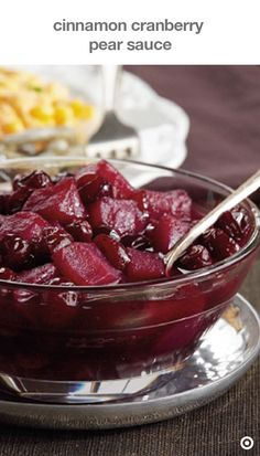 Brighten up plain cranberry sauce with sweet pears and enticing cinnamon.