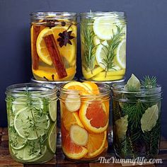 DIY Natural Room Scents. Add fragrance to your home using simmering waters infused with spices, herbs, & fruit. Directions at: www.theyummylife.com/Natural_Room_Scents