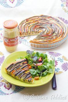 La tarte fleur spirales de courgettes et carottes fais - Tarte soleil sucree originale ...