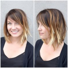 In case you're tempted to get this hairdo, the ombre bob looks pretty awesome on people IRL. Rachel Mcadams Hair, Ombre Bob, Short Ombre, Medium Hair Cuts, Hair Dos, Cut And Color, Fun To Be One, Hair Inspo, How To Look Pretty
