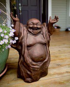 Laughing Buddha | Garden Statue | Garden Décor | Acacia Catalog