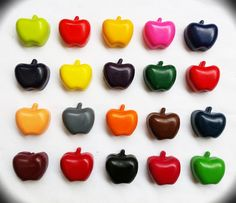 Handmade Kids Crayons - CANDY APPLES! - by TeenyWeenyTreasures on madeit