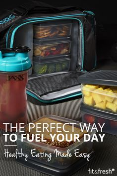 Jaxx FitPak with Portion Control Containers & Shaker Cup - Fuel your workout and conquer your fitness goals. Available in multiple colors. Browse the full selection at www.fit-fresh.com #fitfresh