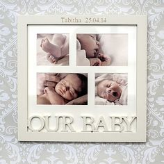 Personalised 'Our Baby' Photo Frame
