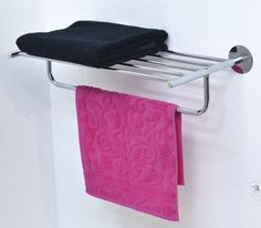 Wall Mounted Bath Shelf and Towel Rack