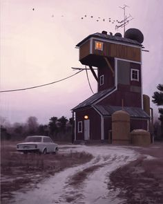 Is this a real House? Whether it is or not, this picture shows that a painting can depict possible realities as well as impassable realities, (as in surrealism) and actual realities, (as in naturalism or realism).