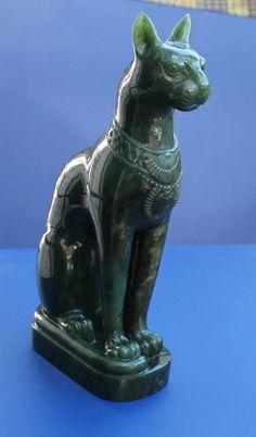 Jade Bastet Statue of Canada Nephrite