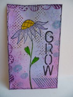Grow - using Stampotique sunflower in purple