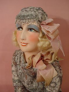 Doll Salon OF BED Old Vintage Boudoir Doll Doll 1925 30 ART Deco Mode | eBay