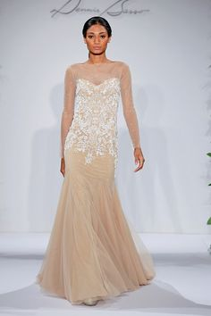 Dennis Basso all sheer nude and tulle mermaid